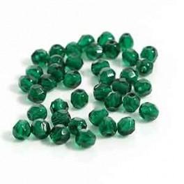 Firepolished 4mm Dark Emerald, 40 st