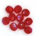 FirePolished 8mm, Siam Ruby, 10st